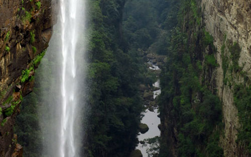 a beautiful waterfall in South Africa