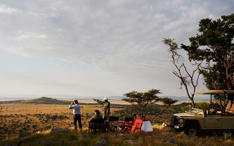 a picnic spot in the Serengeti