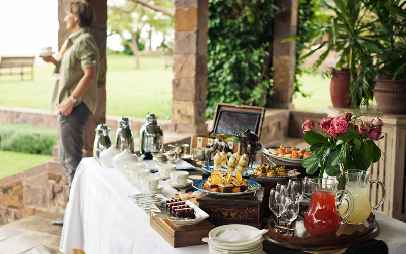 afternoon tea is served on a luxury Tanzania safari