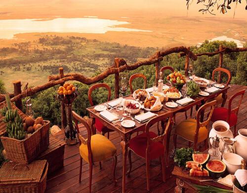 Ngorongoro Crater Lodge Breakfast