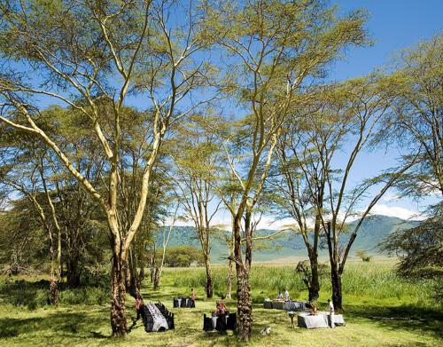 Ngorongoro Crater Lodge Unique Dining